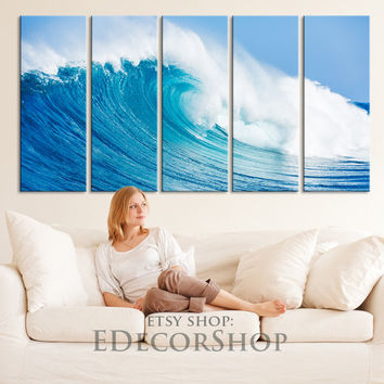 LARGE CANVAS ART - Ocean Wave Canvas Art Print for Home Decoration, Great Quality, Landscape Large Sea  Beachcomber Canvas Prints