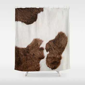 Cow Texture Shower Curtain by cafelab