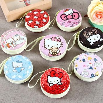 Sales New Arrivals Modern Cartoon Kawaii Hello Kitty Coins Storage Boxes stationery Bag candy sundries Cute Storage Bins SN13
