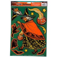 VINTAGE HALLOWEEN CLASSIC WITCH PEEL N PLACE