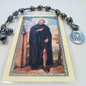 Chaplet of St. Peregrine with Metal Crucifix & Prayer Card