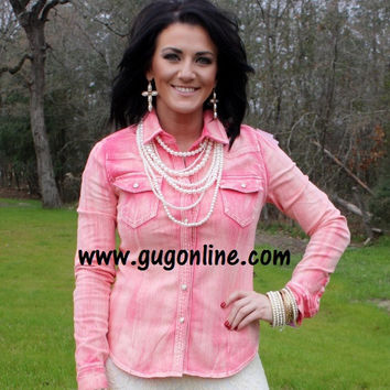 Southern Belle Pink Button Up Shirt
