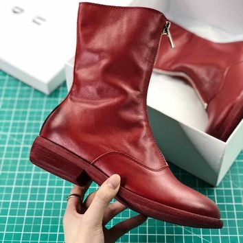 Guidi Zipped Ankle Boots Red - Best Online Sale