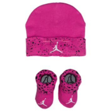 Jordan Cement Print Hat & Bootie Set - Girls' Infant at Foot Locker