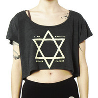 I Am Magical // Crop Top Tee // Charcoal Black | ACTUAL PAIN
