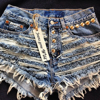 Ripped Distressed Shorts