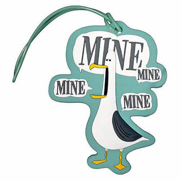 disney parks seagull finding nemo mine mine mine luggage tag new with tag