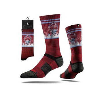 Strideline® 2.0 MLS Colorado Rapids Maroon - Red–Baby Blue–White Crew Socks