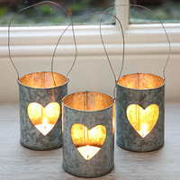 Heart Zinc Tea Light Holder