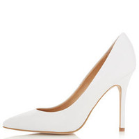 GWENDA Pointed Court White Pointed Toe High Heel Shoes