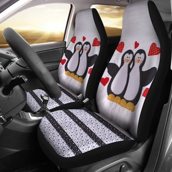 Penguins Print Car Seat Covers-Free Shipping