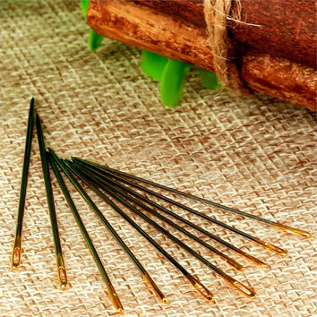 10Pcs Count Needles Canvas Leather Carpet Quilt Craft Hand Sewing Needles Stitching Repair Tools Repairing Embroidery Mending