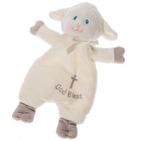 """God Bless"" Christening Lamb Lovey"