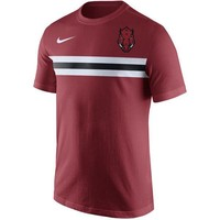 Arkansas Razorbacks Men's Shirt Nike Team Stripe T-Shirt Cardinal