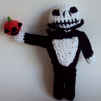 Crocheted Jack Skellington Nightmare Before Christmas Inspired Doll