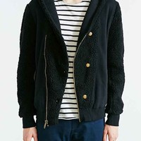 Standard Issue Shearling Hooded Jacket- Black