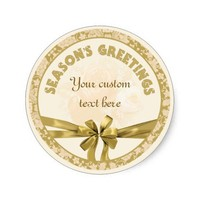 Gold Personalized Envelope Seal Stickers Custom