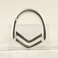 Nose Ring Septum Ring Body Jewelry Sterling Silver Bohemian Fashion Indian Style 14g 16g - SE028R SS