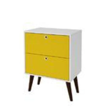 Accentuations by Manhattan Comfort Taby 2- Drawer Nightstand in Yellow and White