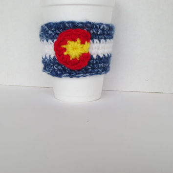 Colorado Flag Barista Cozy - Colorado Flag Cup Cozy - Colorado flag