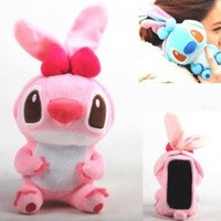 Authentic iPlush Plush Toy Cell Phone Case for iPhone 4 / 4S - Company Direct Sell 100 Percent Authentic (Pink Stitch)