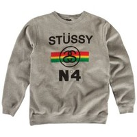 Stussy No4 Fade Crew Sweatshirt - Men's at CCS
