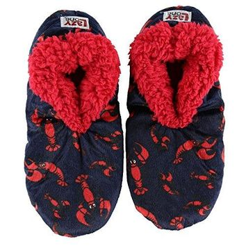 LazyOne Womens Plush Lined Slippers by Comfy Animal Fuzzy Feet
