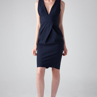 Zimmermann Riot Scuba Plunge Dress in Navy