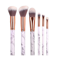 White Marble Makeup Brush Set