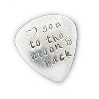 Custom Guitar Pick Love you to the moon and back by JSCJewelry