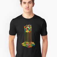 'Rainbow Abstraction melted rubiks cube' T-Shirt by Galih Sanjaya Kusuma wiwaha