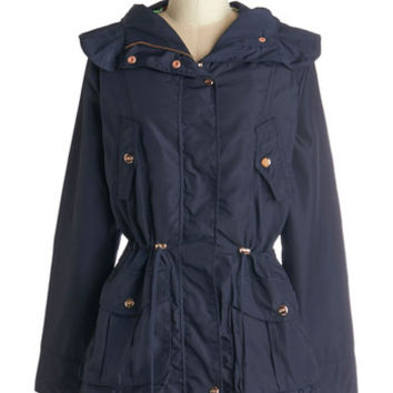 ModCloth Safari Mid-length Long Sleeve Walk the Rainway Raincoat
