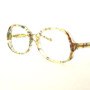 Womens Eyeglasses, Womens Wild Tortoise Shell Eyewear Frames, Mod Vintage Eyeglasses, New Old Stock