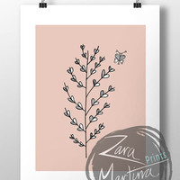 Printable Art, Wall Decor, Instant Download, 'Leafy Friend'