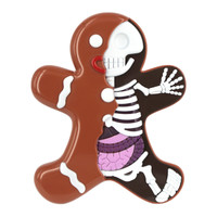 Dissected Gingerbread Man | Tree Ornament by Jason Freeny