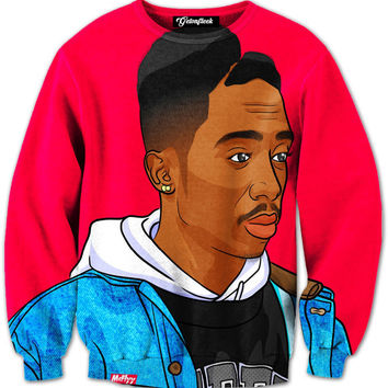 Tupac Cartoon Crewneck
