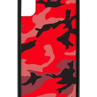 Red Camo iPhone X Case
