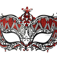 Masquerade mask- Luxury Venetian Filigree Laser Cut Metal Masks