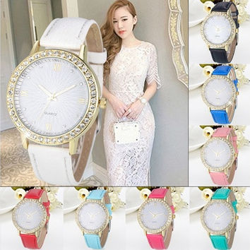 2016 New Fashion Womens Ladies Girls Diamond Watches Analog Watch Casual Quartz Wrist Watch Hot Selling [8833609228]