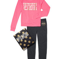 Long Sleeve Raglan & Skinny Pant Gift Set - PINK - Victoria's Secret