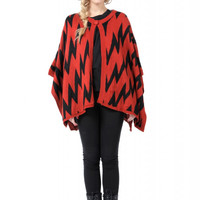 Orange Chevron Patterned Cape