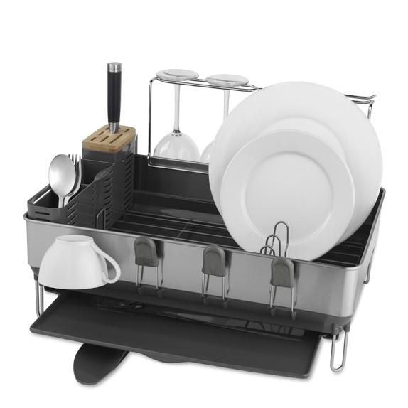 Simplehuman Steel Frame Dish Rack With From Williams Sonoma