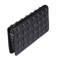 Unisex PU Leather Clutch With Skull Design