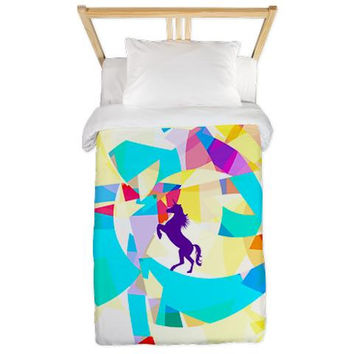 Twin Duvet Cover - Unicorn World - Ornaart Design