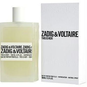 Zadig & Voltaire This Is Her! By Zadig & Voltaire Eau De Parfum Spray 3.3 Oz
