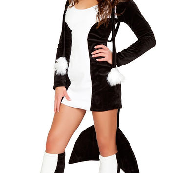 Black And White Darling Dolphin Costume Set