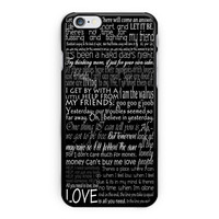 The Beatles Song Lyric iPhone 6 Case