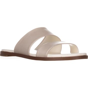 Cole Haan Anica Flat Slide Sandals, Ivory, 7 US