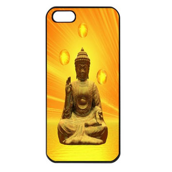 Golden Buddha Apple iPhone 5 Seamless Case (Black)