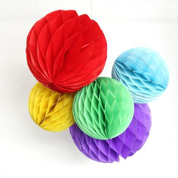 "15PC 6""(15cm)8""(20cm)10""(25cm) Best Price Of Tissue Paper Honeycomb Ball Pastel Bags For Wedding/Party/Baby shower Decorations"